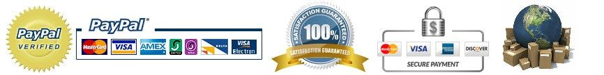 PayPal Verified 100% Satisfaction Guarantee